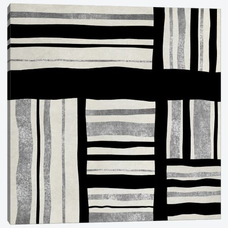 Silver Groove I Canvas Print #ERO68} by Ellie Roberts Canvas Artwork