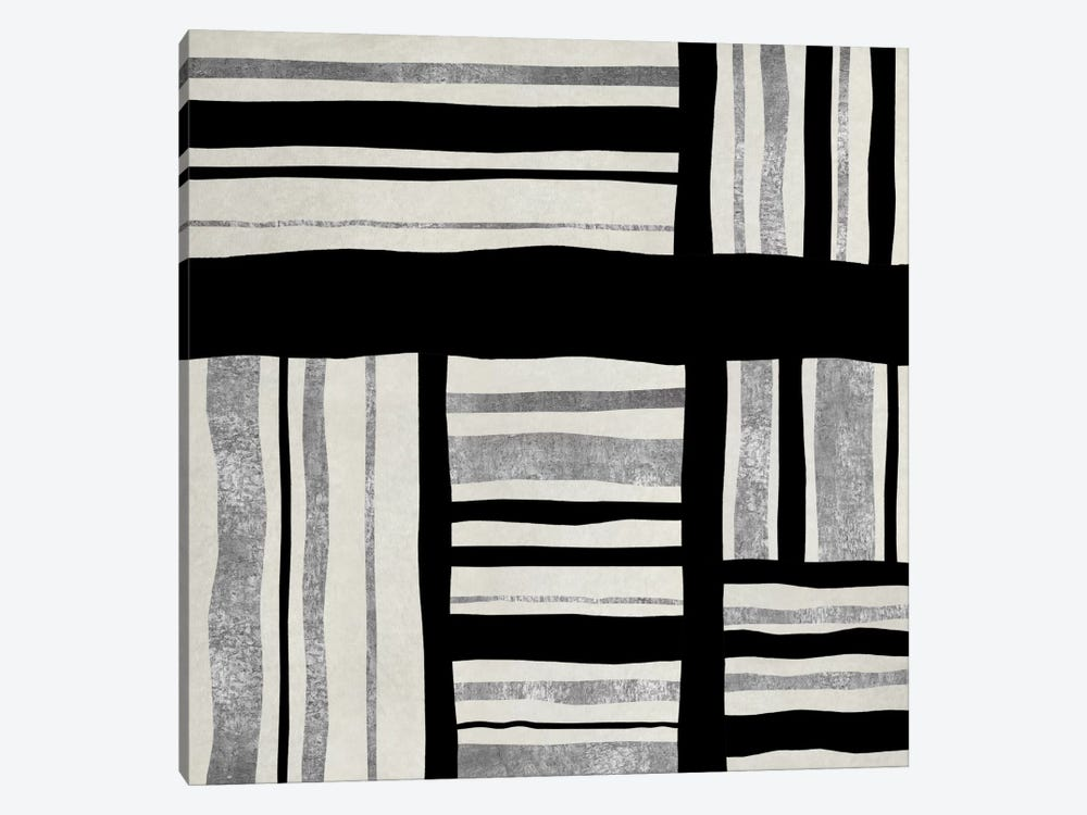 Silver Groove I by Ellie Roberts 1-piece Canvas Artwork