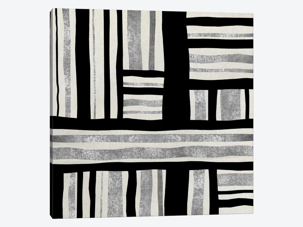 Silver Groove II by Ellie Roberts 1-piece Canvas Print