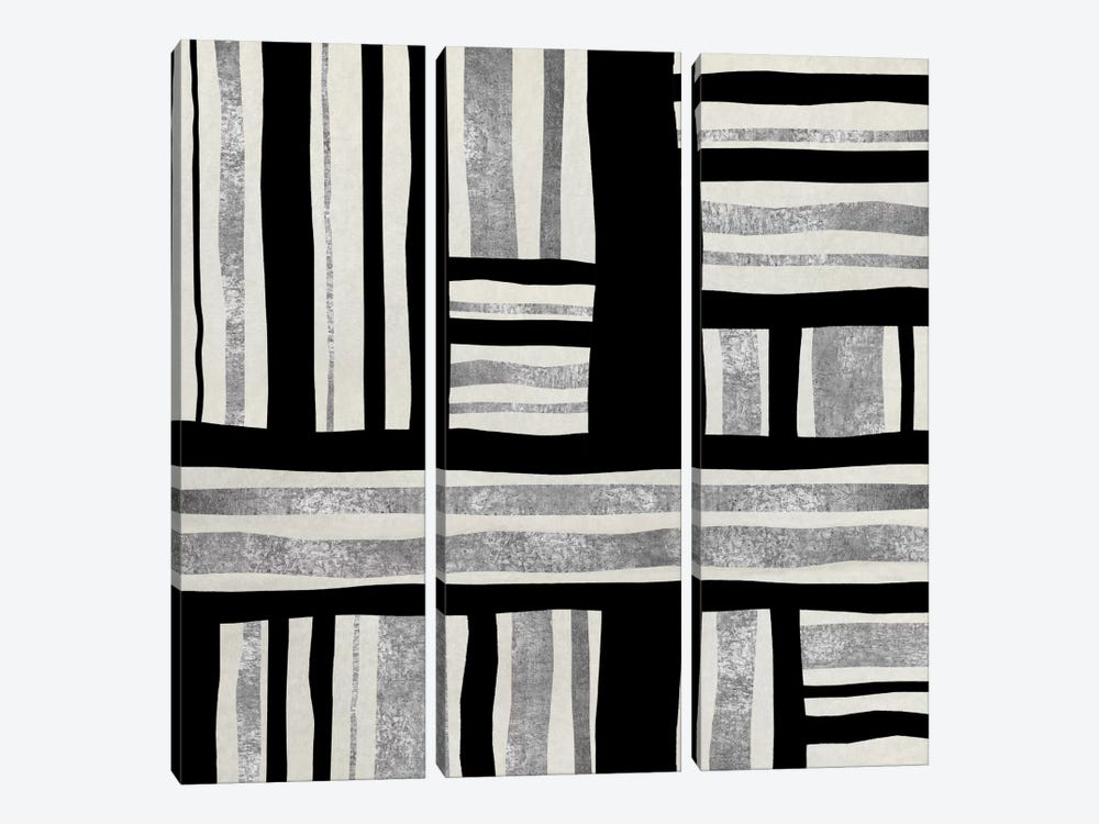 Silver Groove II by Ellie Roberts 3-piece Canvas Art Print