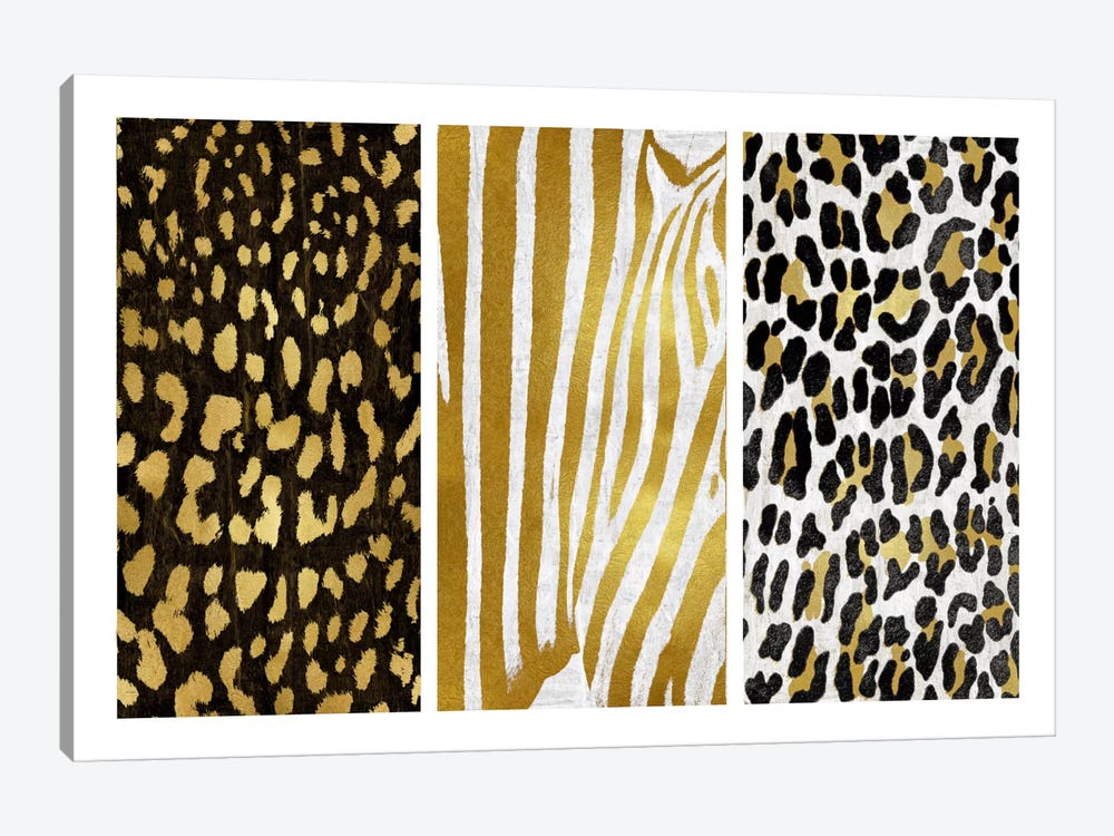 Wild Trio I by Ellie Roberts 1-piece Canvas Art