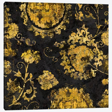 Adornment In Gold I Canvas Print #ERO8} by Ellie Roberts Canvas Artwork