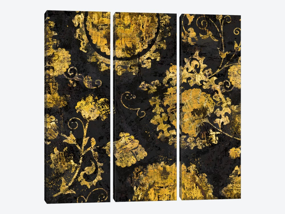 Adornment In Gold I by Ellie Roberts 3-piece Canvas Artwork