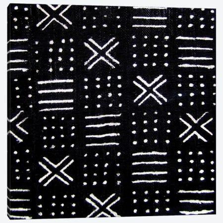 Mudcloth Black Geometric Design III Canvas Print #ERO90} by Ellie Roberts Canvas Print