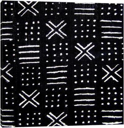 Mudcloth Black Geometric Design III Canvas Art Print