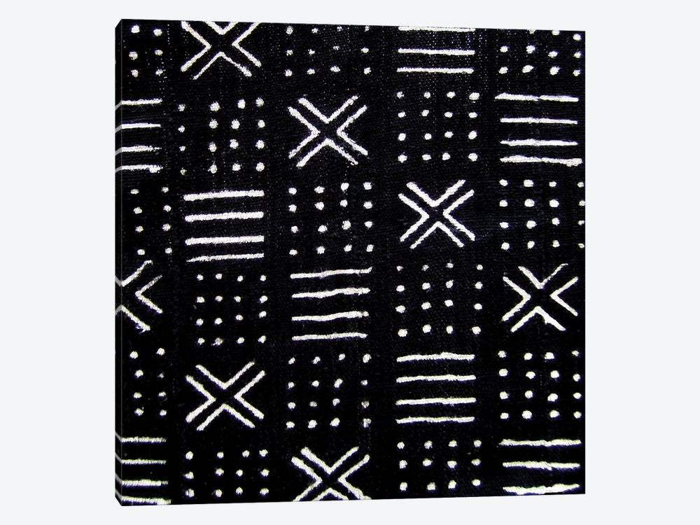 Mudcloth Black Geometric Design III by Ellie Roberts 1-piece Art Print