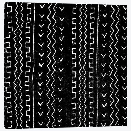 Mudcloth Black Geometric Design VI Canvas Print #ERO93} by Ellie Roberts Canvas Print