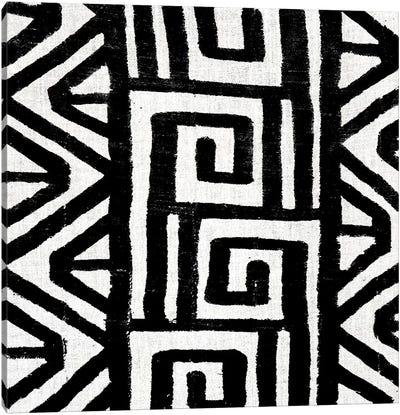 Mudcloth Black Geometric Design VIII Canvas Art Print