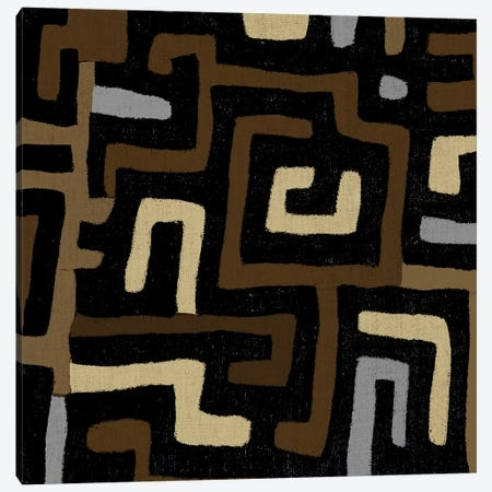 Mudcloth Geometric Design I Canvas Print #ERO96} by Ellie Roberts Canvas Artwork