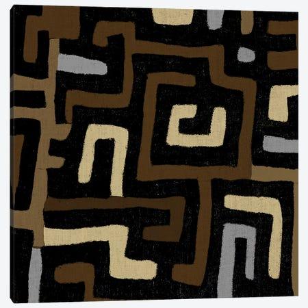 Mudcloth Geometric Design I Canvas Print #ERO96} by Ellie Roberts Canvas Artwork