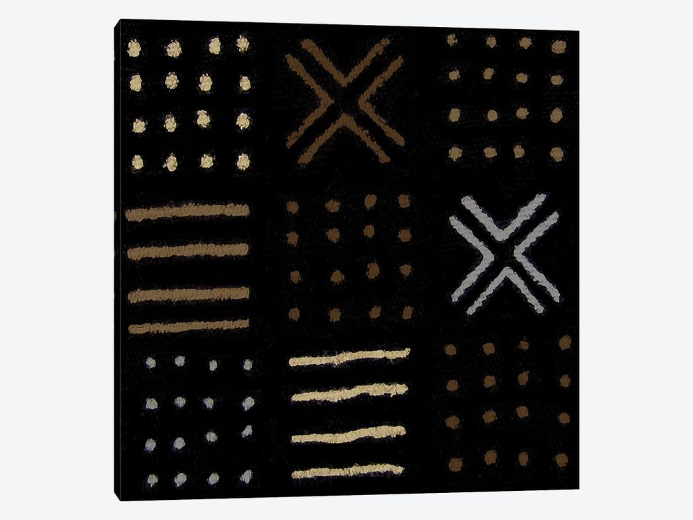 Mudcloth Geometric Design II by Ellie Roberts 1-piece Canvas Wall Art
