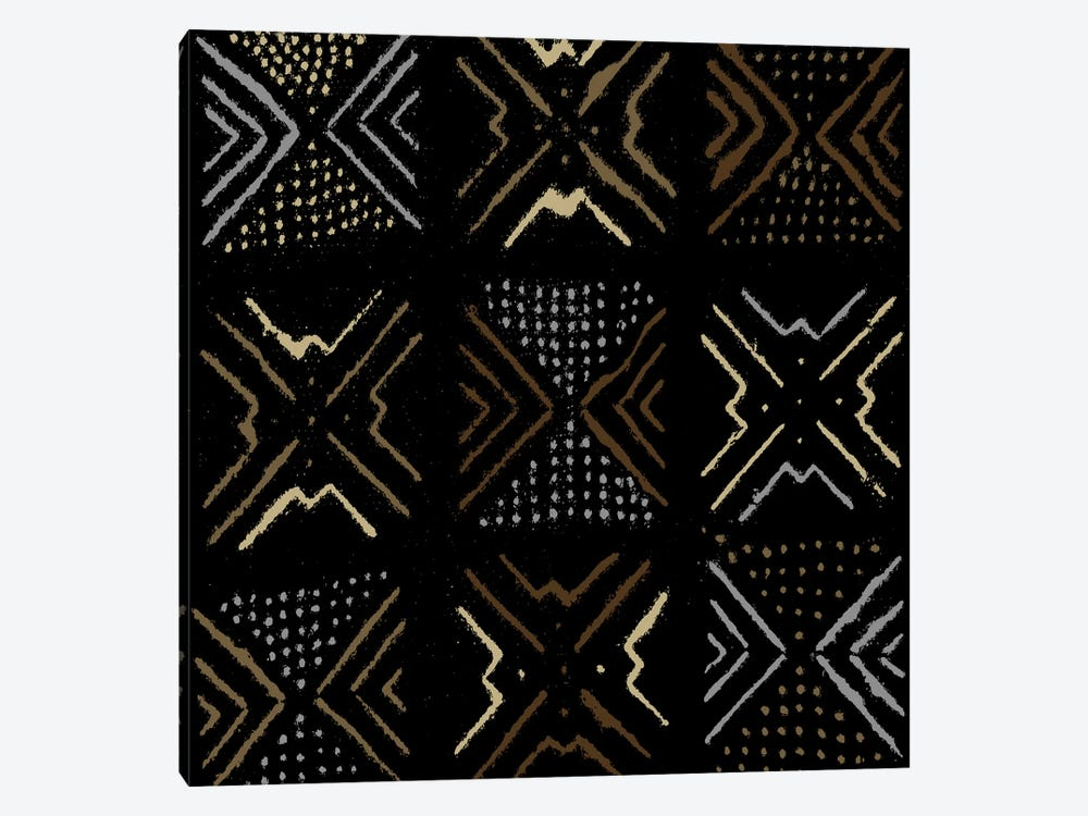 Mudcloth Geometric Design III by Ellie Roberts 1-piece Canvas Art Print