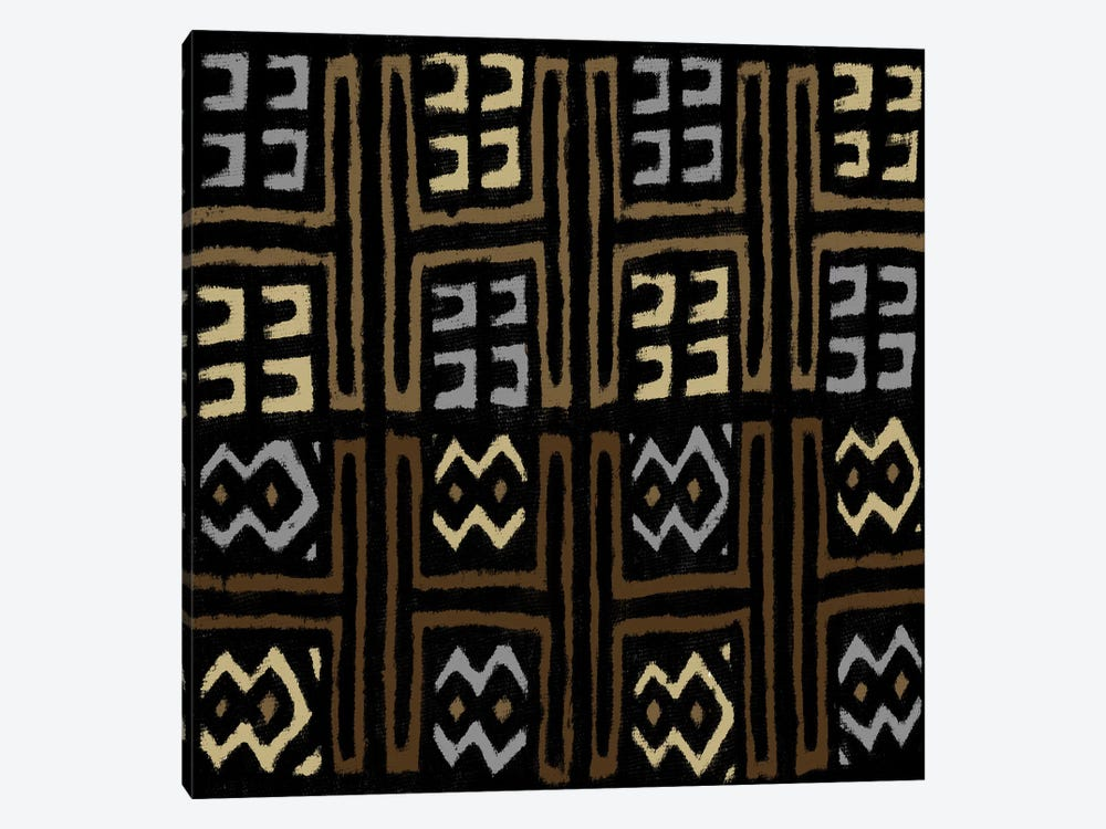 Mudcloth Geometric Design IV by Ellie Roberts 1-piece Canvas Wall Art