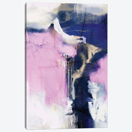 I Love Pink Canvas Print #ERT153} by Roberto Moro Canvas Wall Art