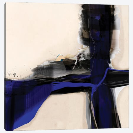 Blue Vein I Canvas Print #ERT52} by Roberto Moro Canvas Art