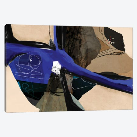 Blue Vein II Canvas Print #ERT53} by Roberto Moro Canvas Wall Art