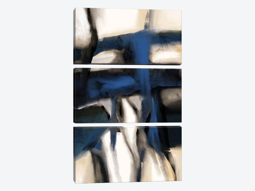 Rhapsody In Blue by Roberto Moro 3-piece Canvas Wall Art