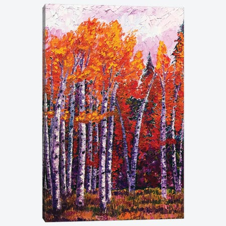 Fall Aspens Canvas Print #ERY12} by Eryn Tehan Canvas Art Print