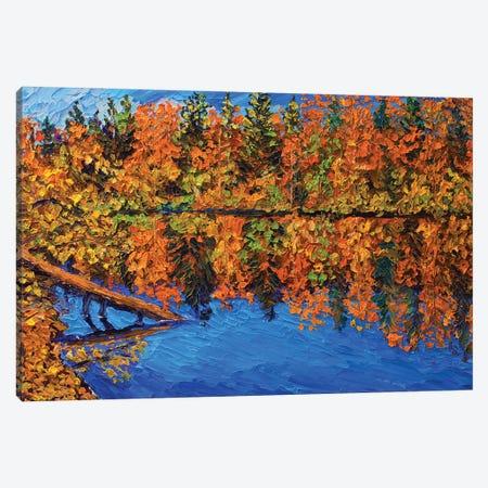 Fall Reflections Canvas Print #ERY13} by Eryn Tehan Art Print