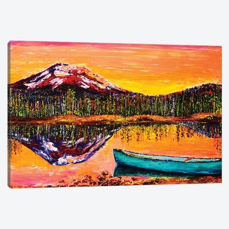 Lakeside Sunrise Canvas Print #ERY20} by Eryn Tehan Canvas Wall Art