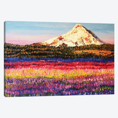 Lavender Fields Canvas Print #ERY21} by Eryn Tehan Canvas Wall Art