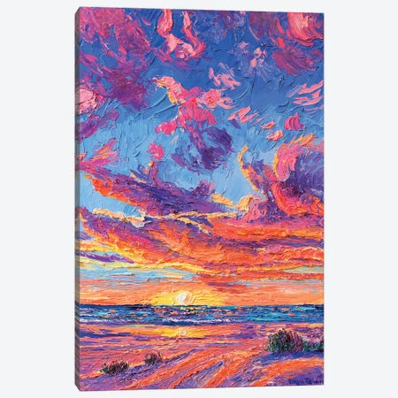 Manzanita Sunsets Canvas Print #ERY22} by Eryn Tehan Canvas Wall Art