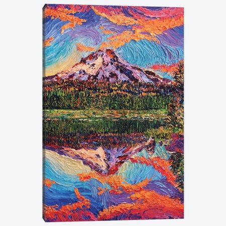 Mirror Lake Sunset Canvas Print #ERY23} by Eryn Tehan Canvas Artwork