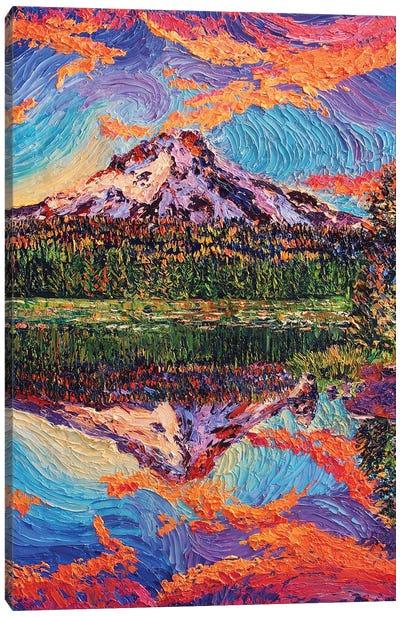 Mirror Lake Sunset Canvas Art Print