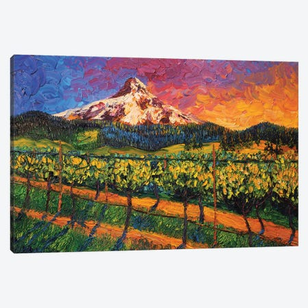 Mt. Hood Winery Canvas Print #ERY25} by Eryn Tehan Canvas Print
