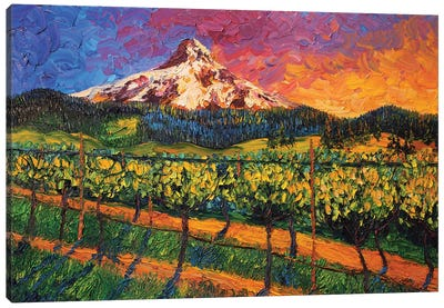 Mt. Hood Winery Canvas Art Print
