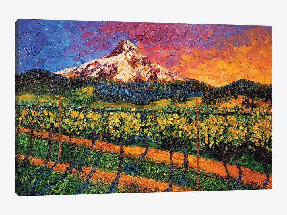 Mt. Hood Winery by Eryn Tehan 1-piece Canvas Art
