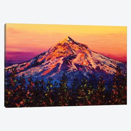 Mt. Hood At Sunset Canvas Print #ERY26} by Eryn Tehan Canvas Art Print