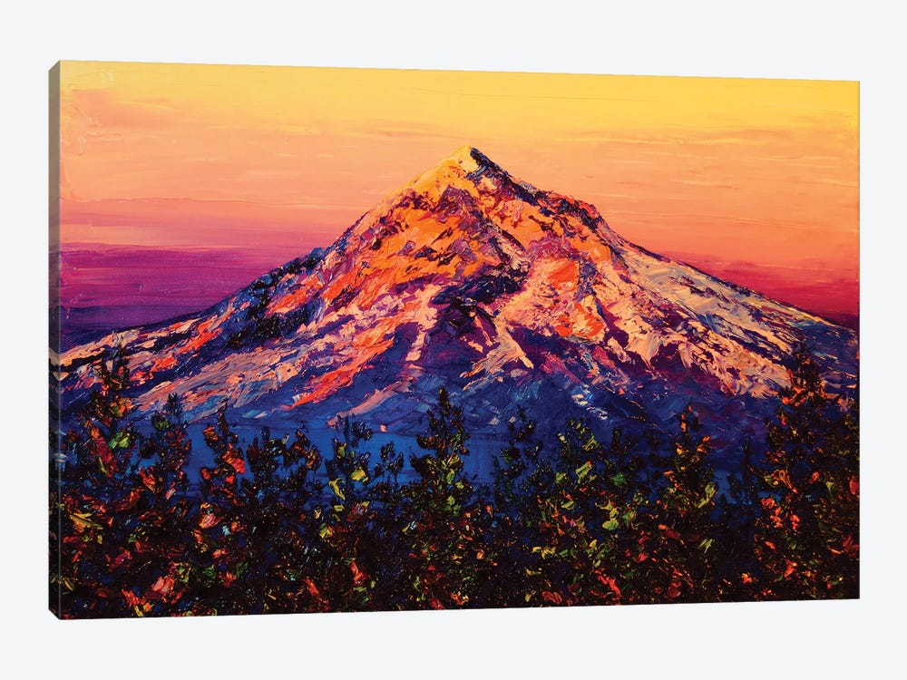 Mt. Hood At Sunset by Eryn Tehan 1-piece Canvas Print