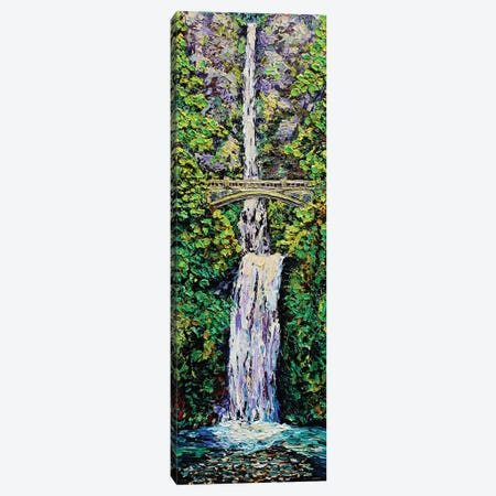 Multnomah Falls Canvas Print #ERY27} by Eryn Tehan Art Print