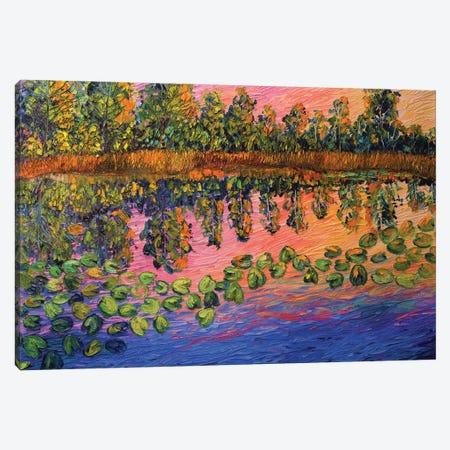 Rowena Pond Canvas Print #ERY33} by Eryn Tehan Canvas Art Print