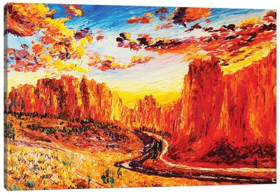 Smith Rock At Sunset Canvas Art Print