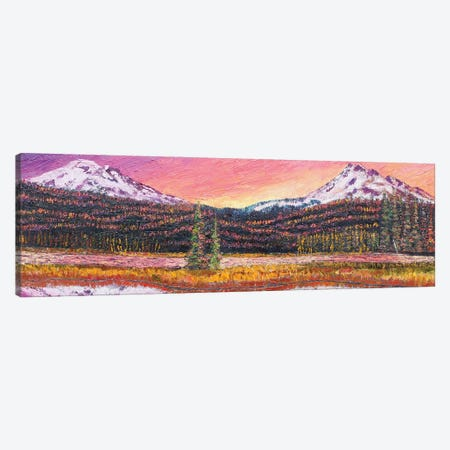 Sparks Lake At Sunset Canvas Print #ERY42} by Eryn Tehan Canvas Art