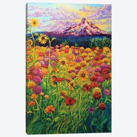 Dahlia Day Dream Canvas Print #ERY5} by Eryn Tehan Canvas Wall Art