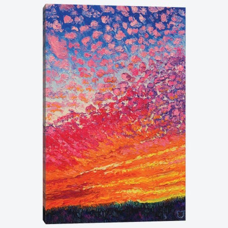 Neon Afterglow Canvas Print #ERY70} by Eryn Tehan Art Print