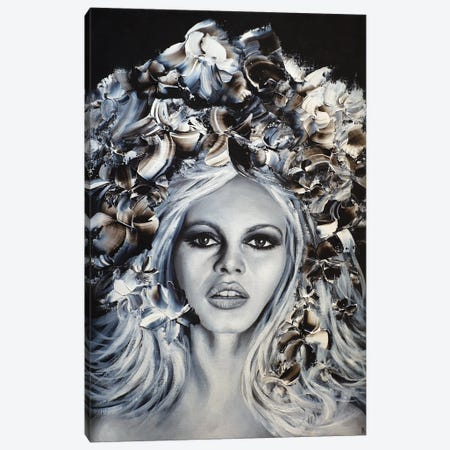 B.B. Initiales Canvas Print #ESB19} by Estelle Barbet Canvas Art Print
