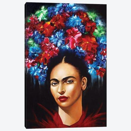 Frida Canvas Print #ESB25} by Estelle Barbet Art Print