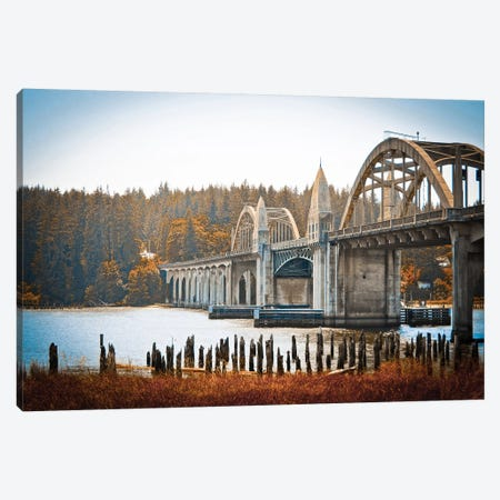 Fall Bridge Canvas Print #ESC18} by Eric Schech Canvas Artwork