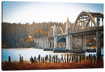 Fall Bridge Canvas Art Print