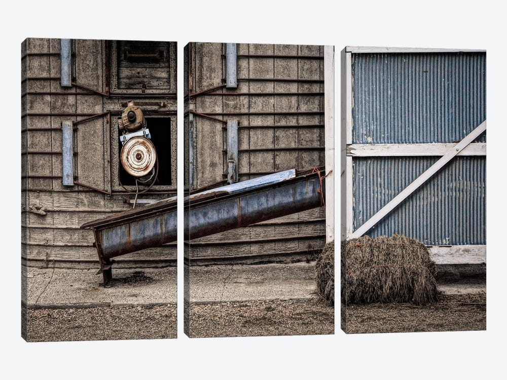 Farm Contraptions by Eric Schech 3-piece Canvas Print