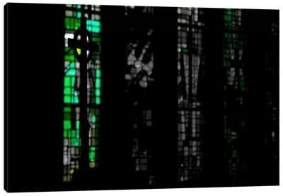 Stained Glass in Darkness Canvas Art Print