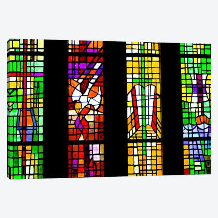 Stained Glass Canvas Print #ESC27} by Eric Schech Canvas Artwork