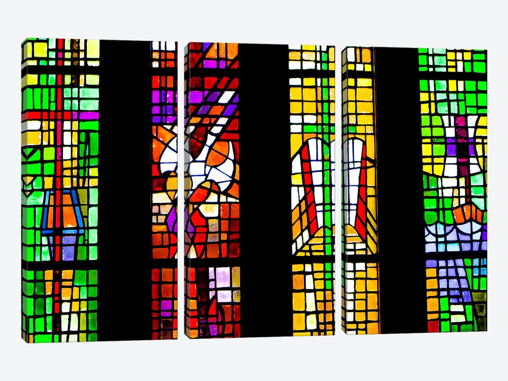 Stained Glass by Eric Schech 3-piece Canvas Print