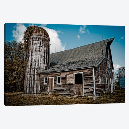Farm Barn Canvas Print #ESC29} by Eric Schech Art Print