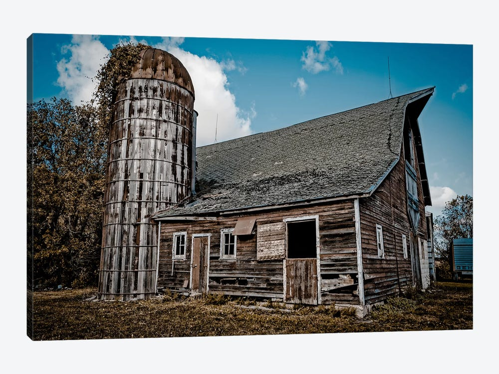 Farm Barn by Eric Schech 1-piece Canvas Art Print