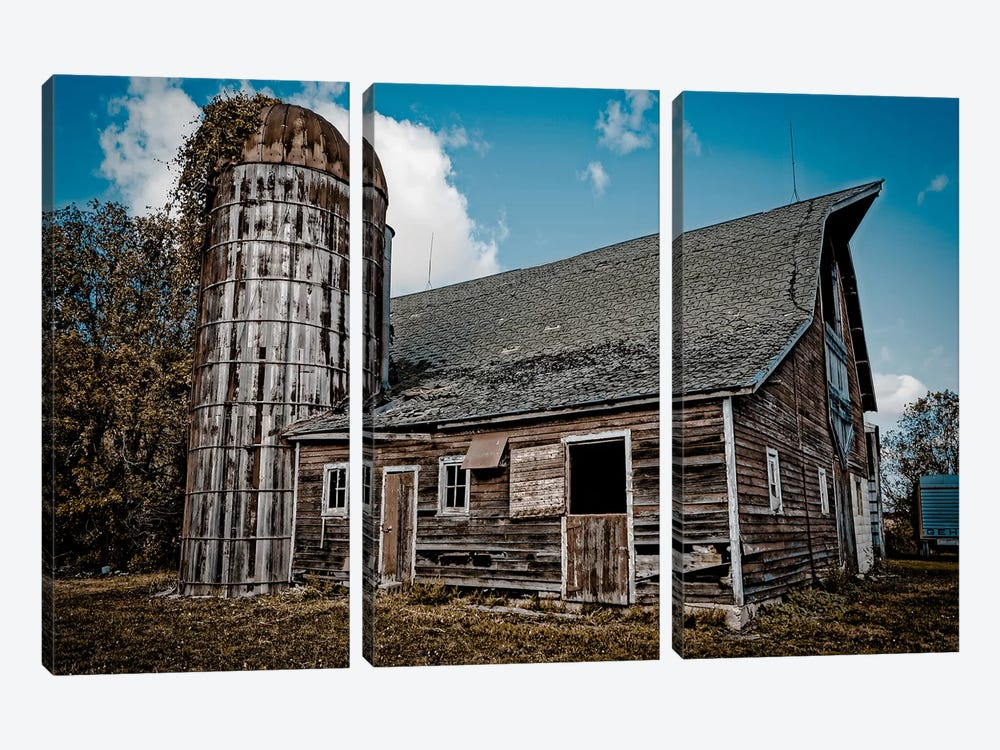 Farm Barn by Eric Schech 3-piece Canvas Art Print